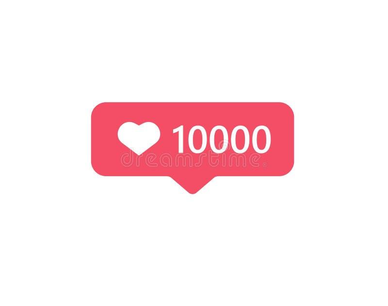 Instagram social 10000 modernos de la nueva notificación contraria medios como ilustración del vector