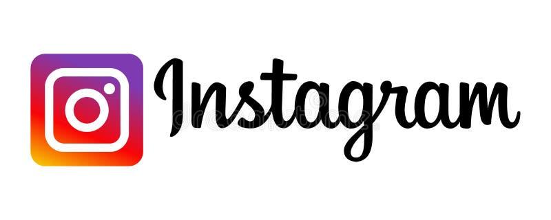 Instagram symbolslogo stock illustrationer