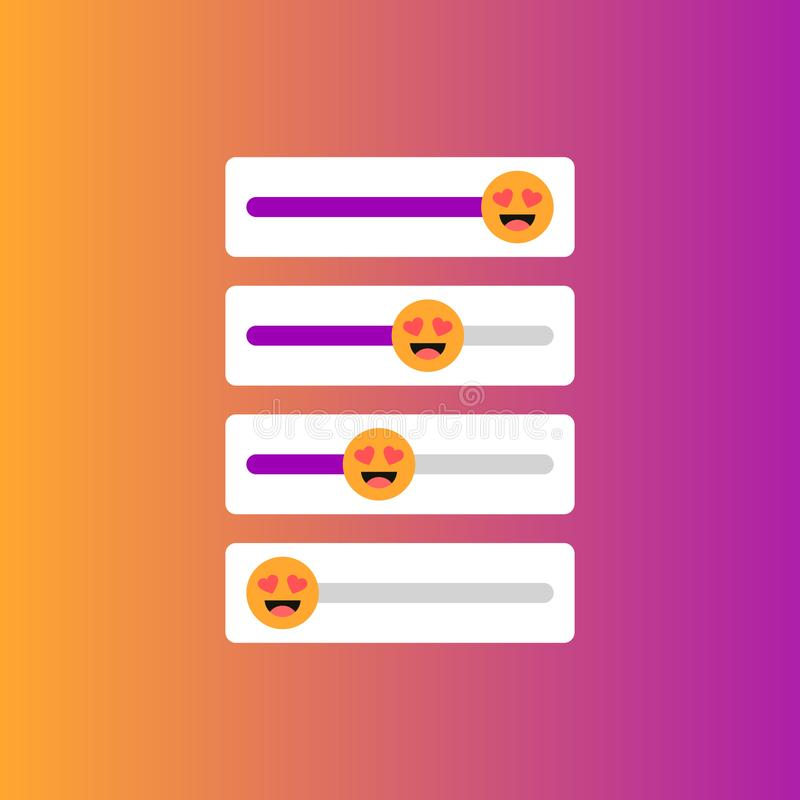 Set of slider smile for social media vector illustration