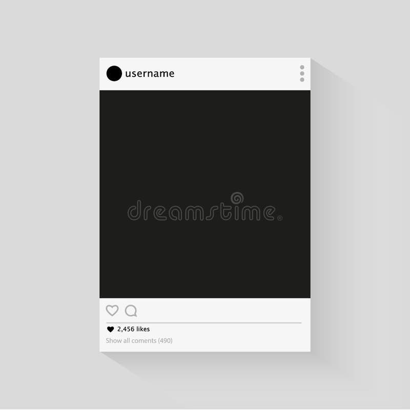 Instagram Vector social del marco de la foto de la red libre illustration