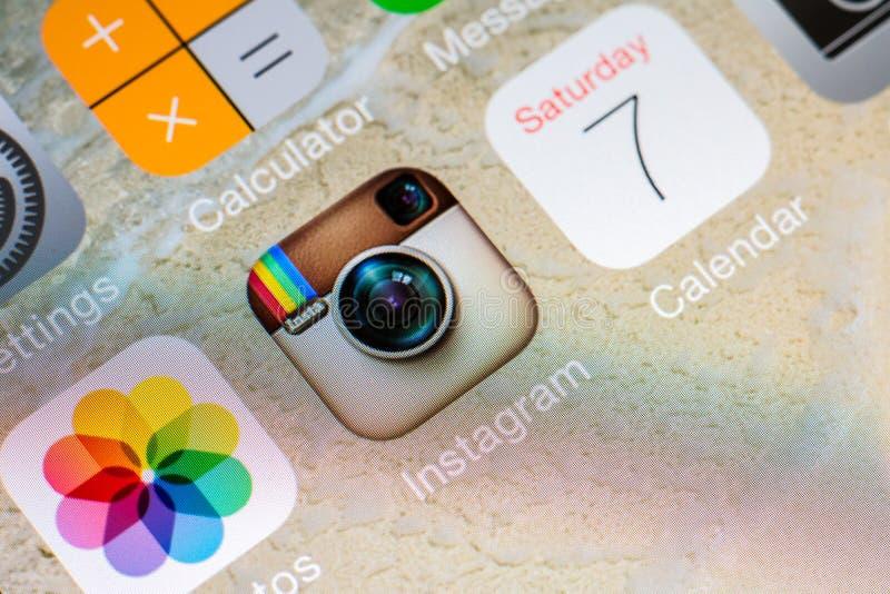 Instagram zastosowanie zdjęcie stock