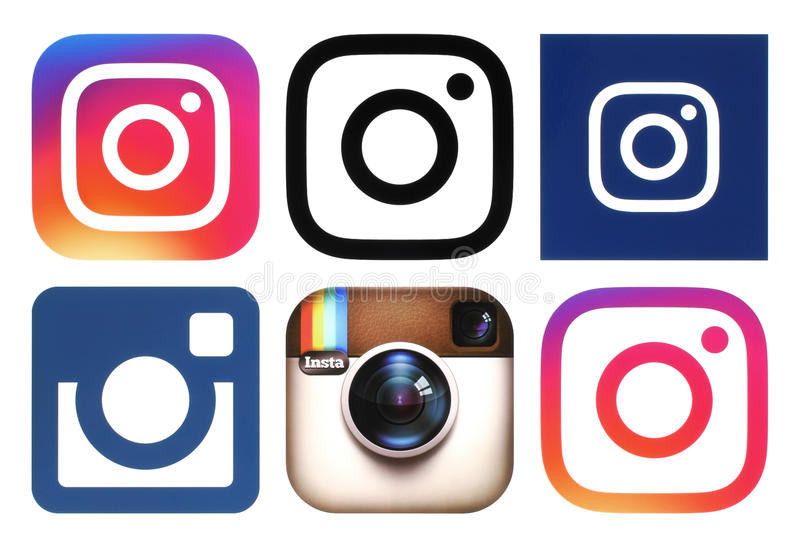 Instagramemblemen op witte achtergrond