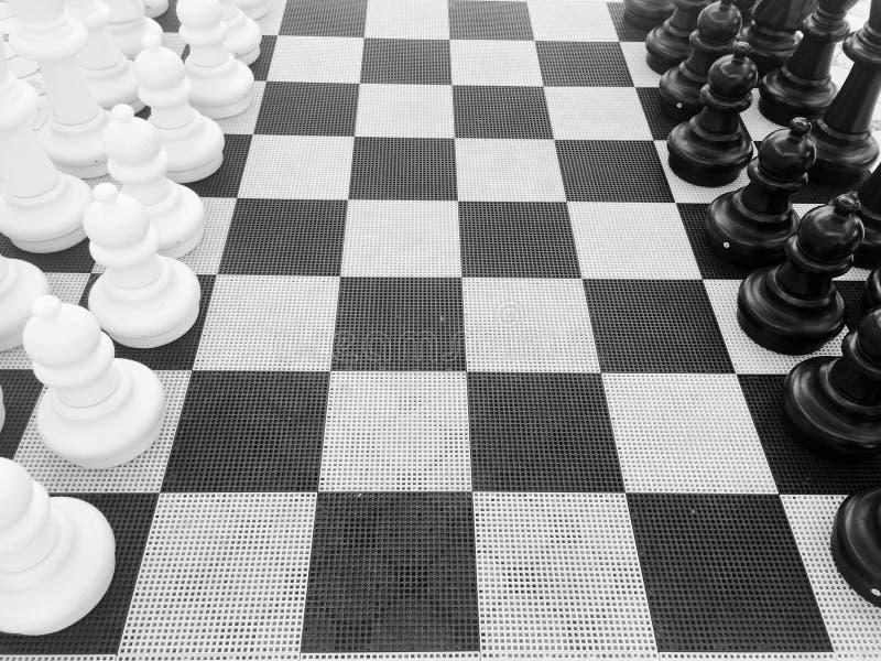 Instalação da xadrez imagem de stock