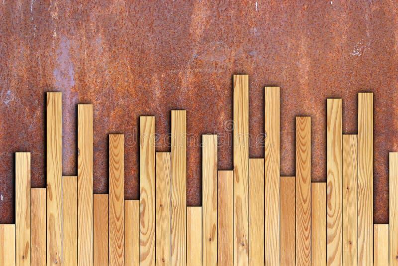 A instalação de madeira do assoalho imagens de stock