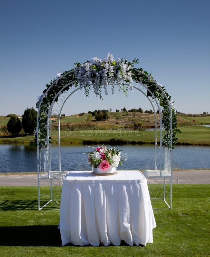 Instalação do casamento imagens de stock