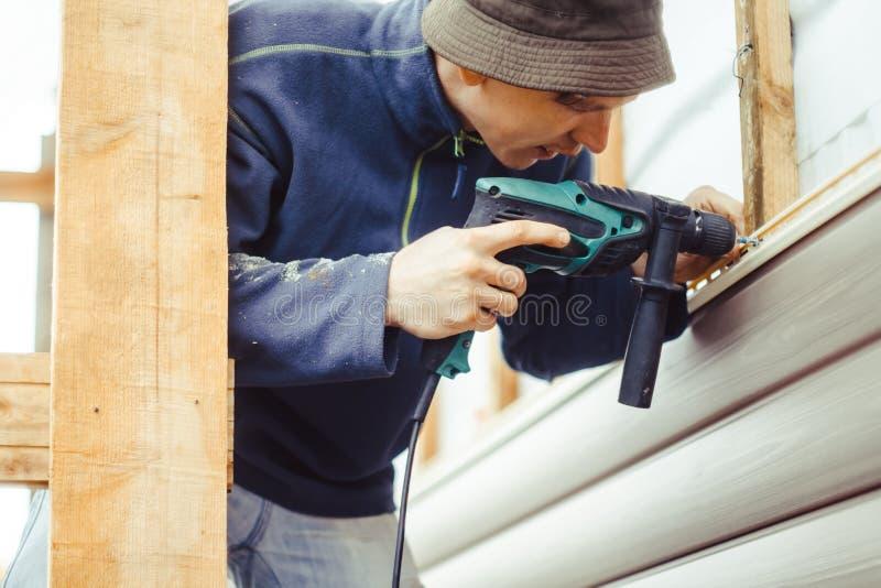 A instalação do tapume fotografia de stock