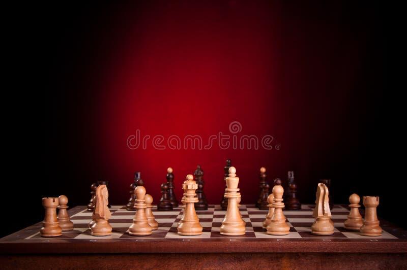 A instalação inicial de uma placa de xadrez fotografia de stock royalty free