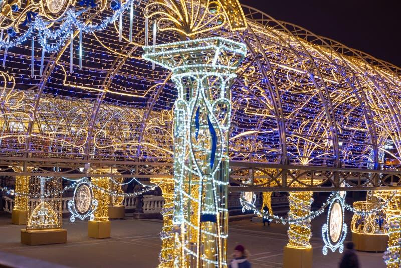 A instalação no quadrado de Manege, Rússia do Natal fotos de stock royalty free