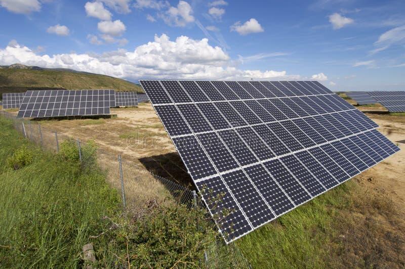 A instalação solar foto de stock royalty free