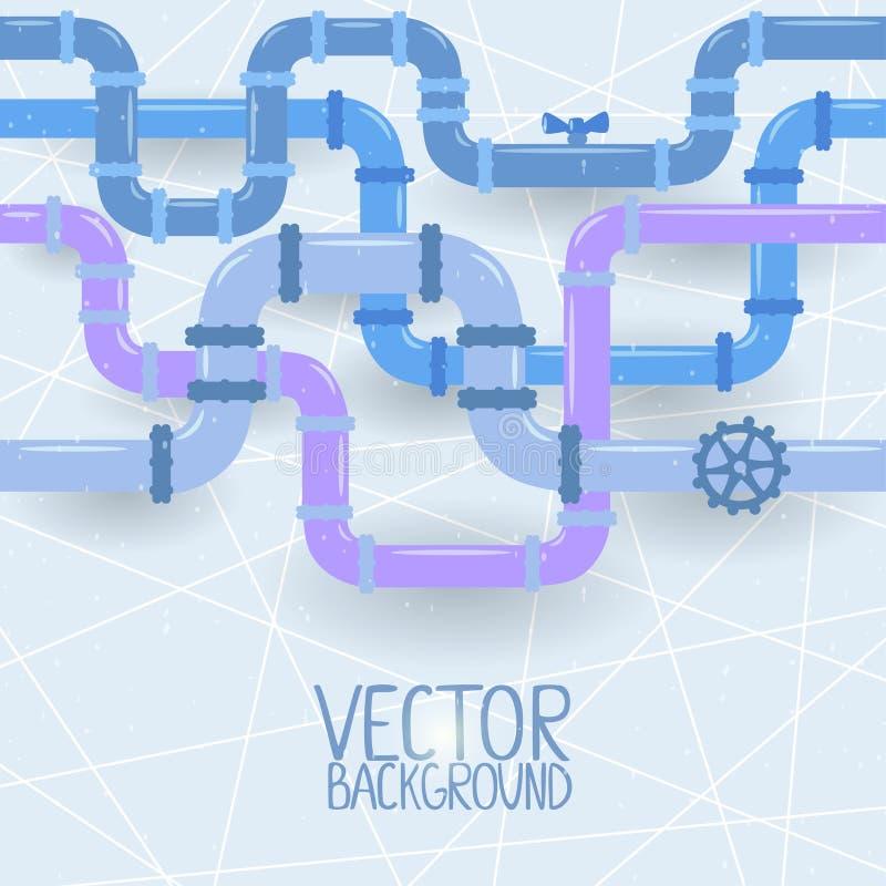 Instala tubos el fondo ilustración del vector