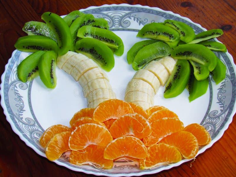 Instalación abstracta de frutas imagen de archivo