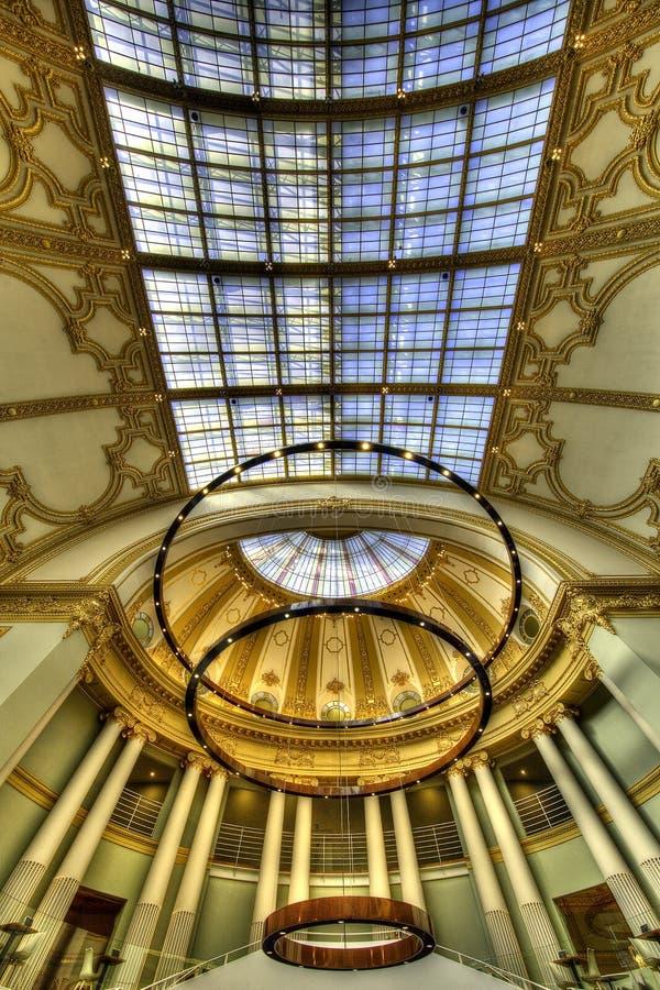 Instalación adornada del techo fotografía de archivo libre de regalías