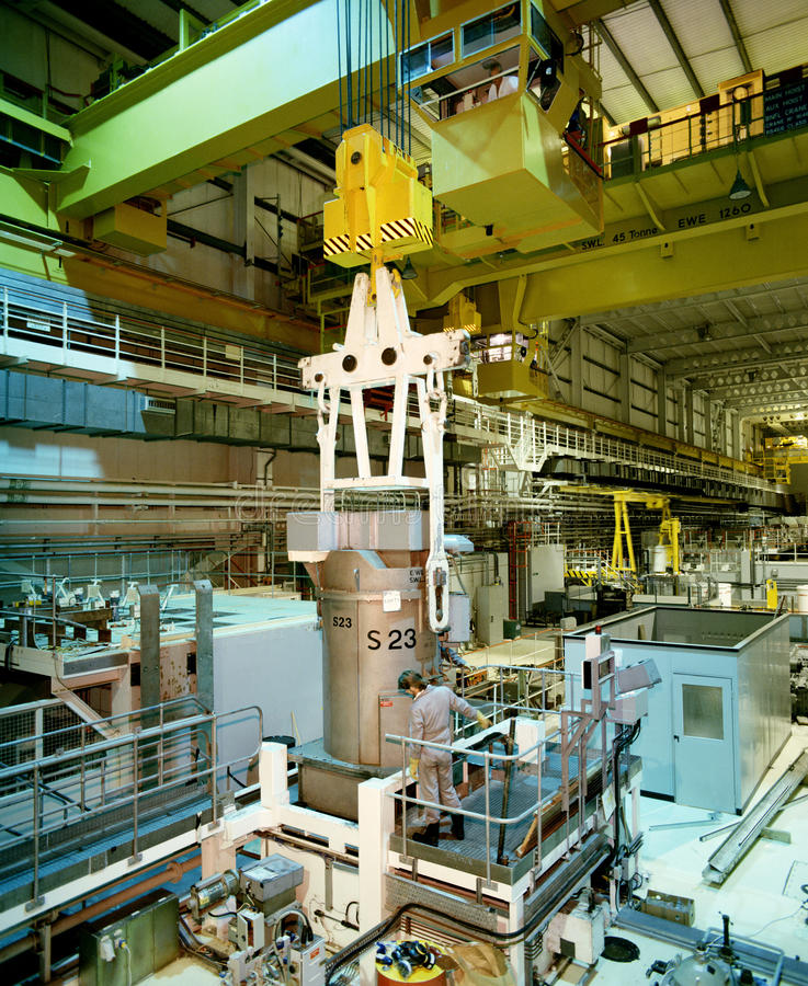 Instalación de reprocesado nuclear - Sellafield - Reino Unido foto de archivo