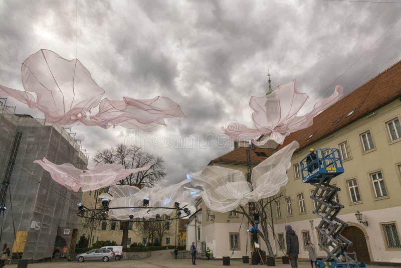 Instalación del arte de aire abierto imágenes de archivo libres de regalías