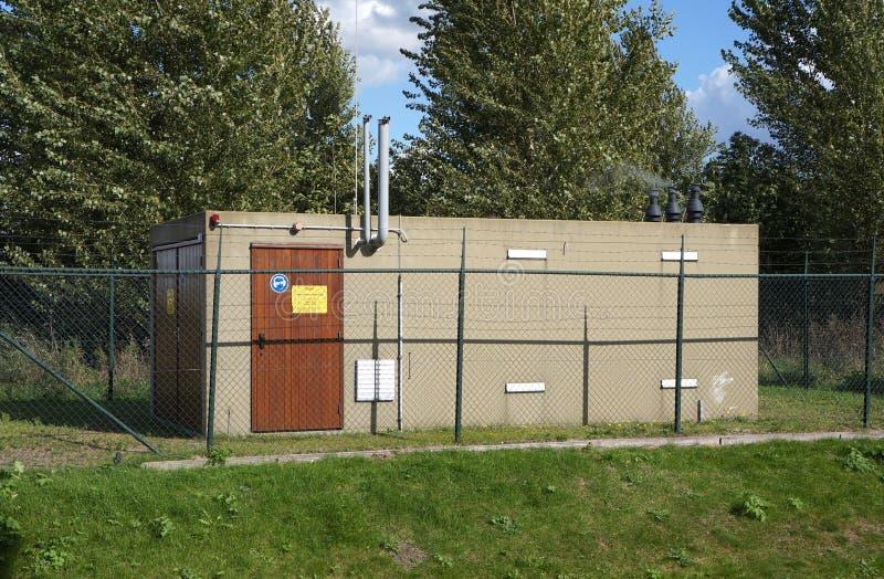 Instalación del CO2 de OCAP en los Países Bajos imagen de archivo libre de regalías