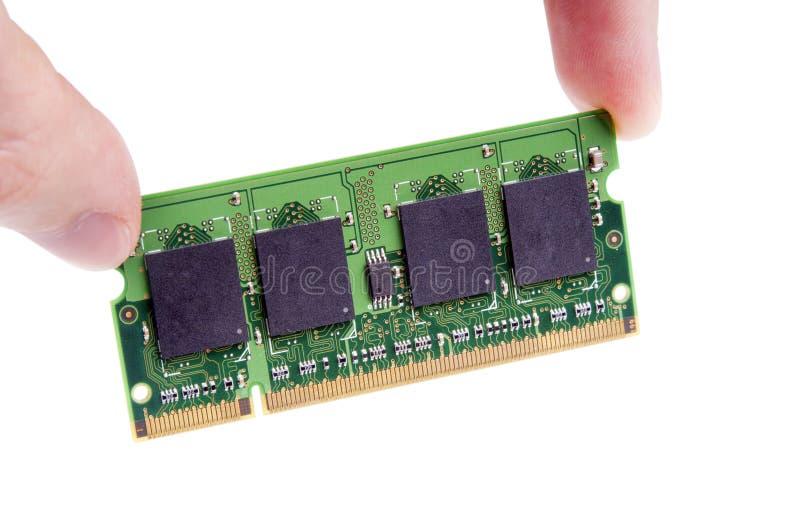Instalación del módulo del RAM imagenes de archivo