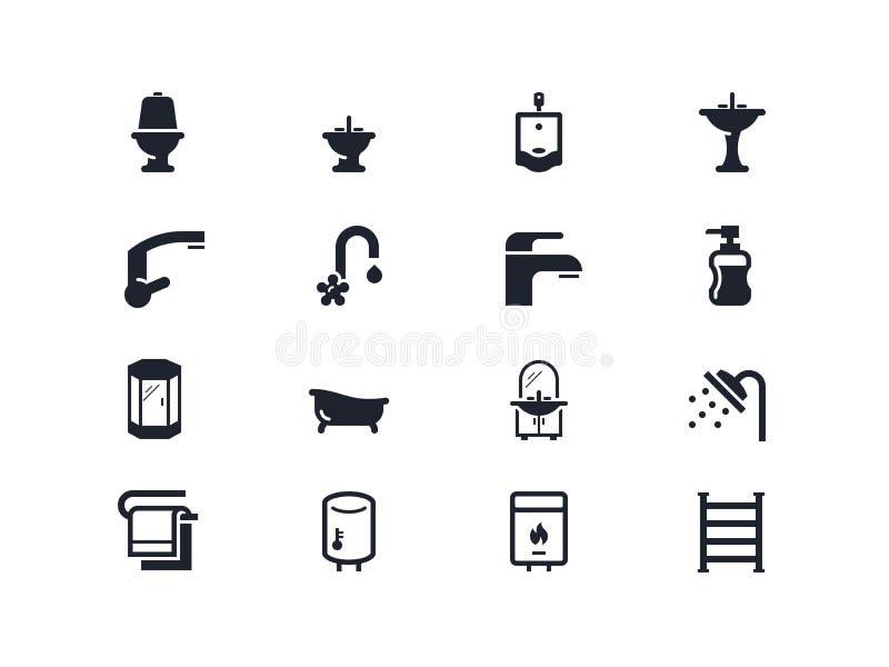 Instalacj wodnokanalizacyjnych ikony Lyra serie royalty ilustracja