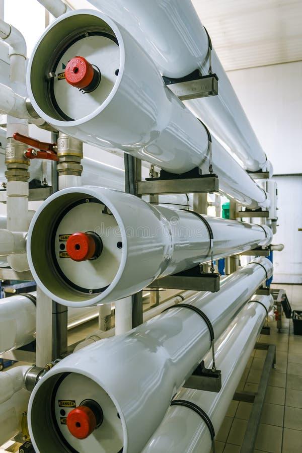 Instalacja przemysłowi błona przyrząda obraz stock