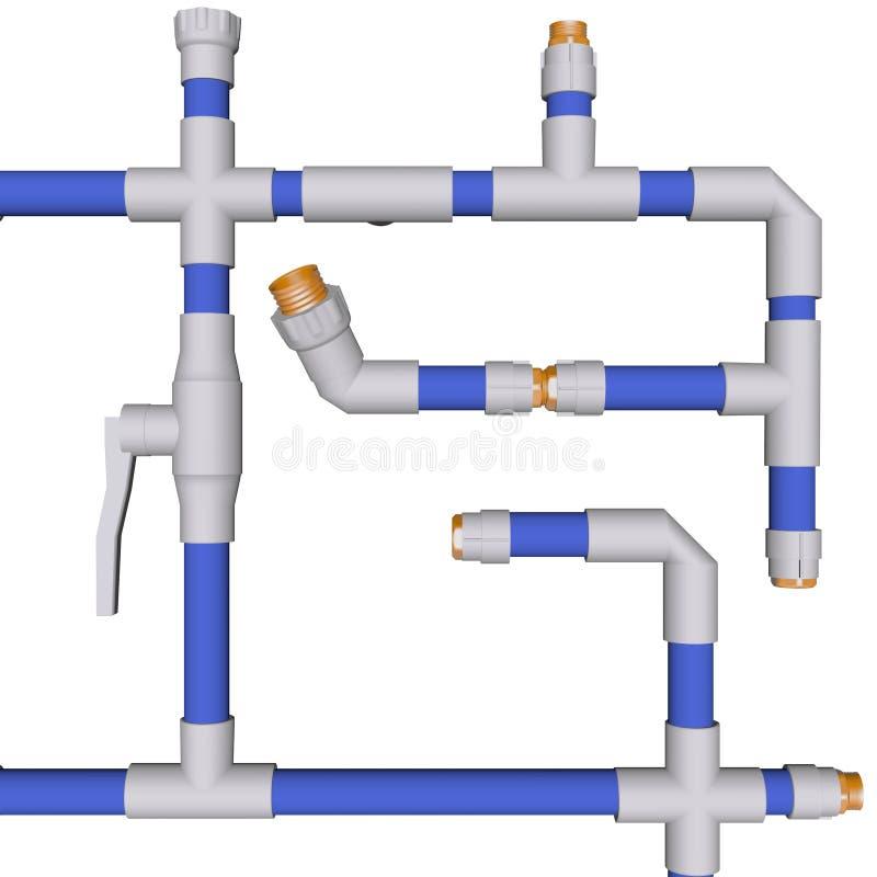 instalacja wodnokanalizacyjna system ilustracji