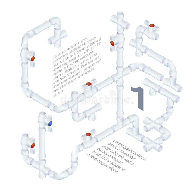 Instalacja wodnokanalizacyjna systemu ilustracja royalty ilustracja