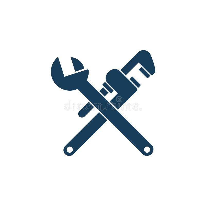 Instalacja wodnokanalizacyjna wektoru narzędzia ilustracja wektor
