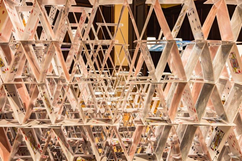 Instalation искусства внутри культурного центра банка Бразилию, мин Gerais, Бразилии стоковая фотография rf