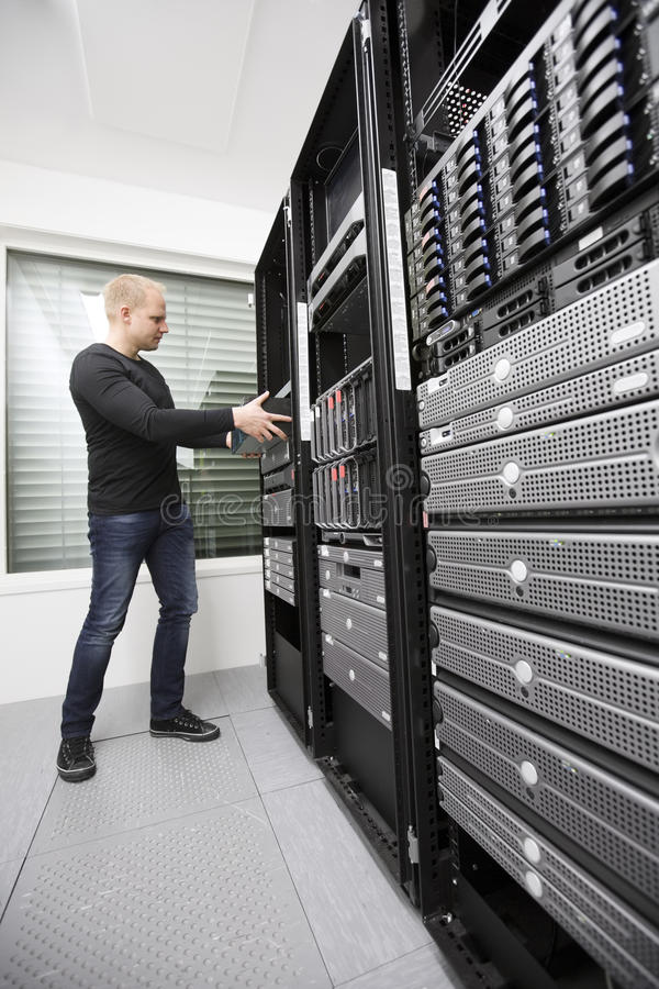 Free Install Network Router In Datacenter Stock Image - 29734691