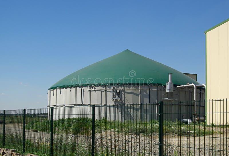 Installatie 17 van het biogas stock afbeelding