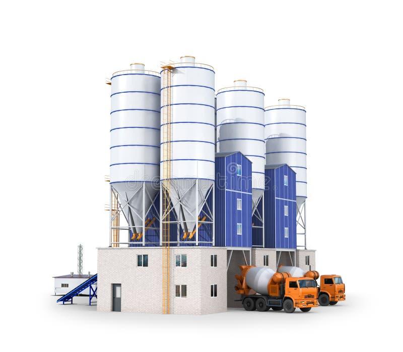 Installatie voor de productie van beton vector illustratie