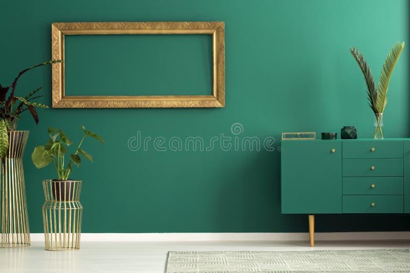 Installaties in woonkamer royalty-vrije stock afbeelding