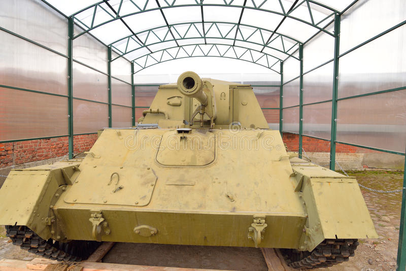 installation autopropulsée de 76mm de 1943 ans, Su-76M photo libre de droits
