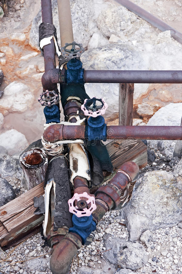 Installation for conducting hot water royalty free stock photography
