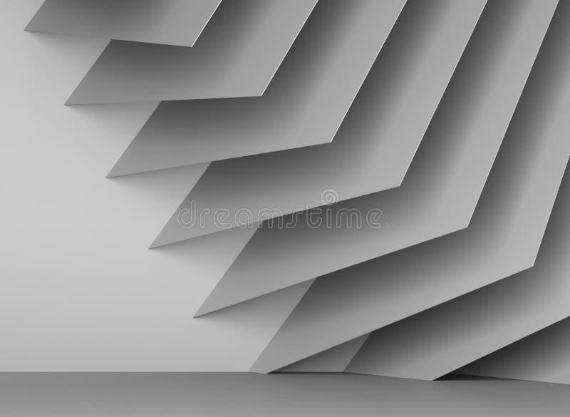 installation 3d géométrique des feuilles carrées illustration stock