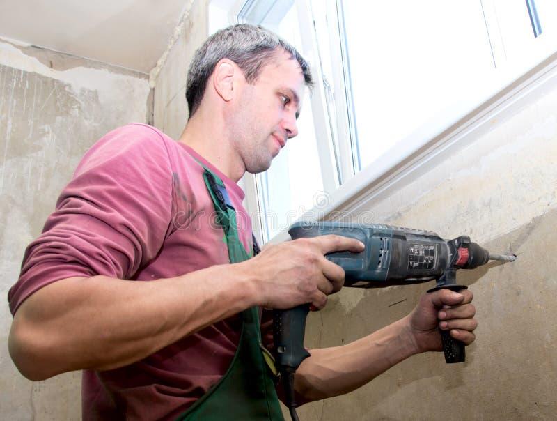 Installation d'un radiateur photo libre de droits