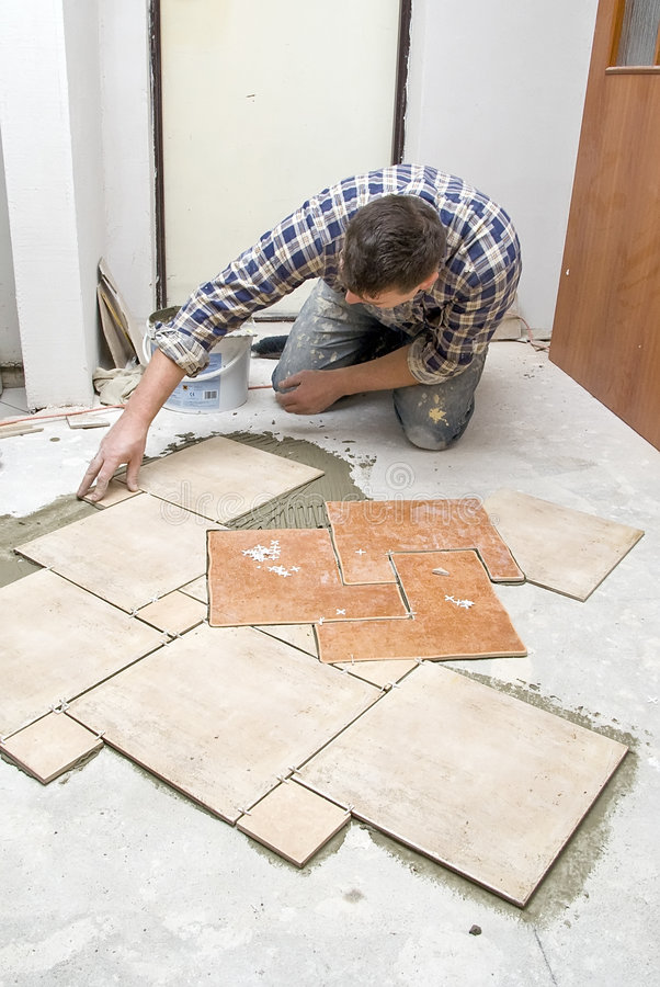 Installation de carrelages