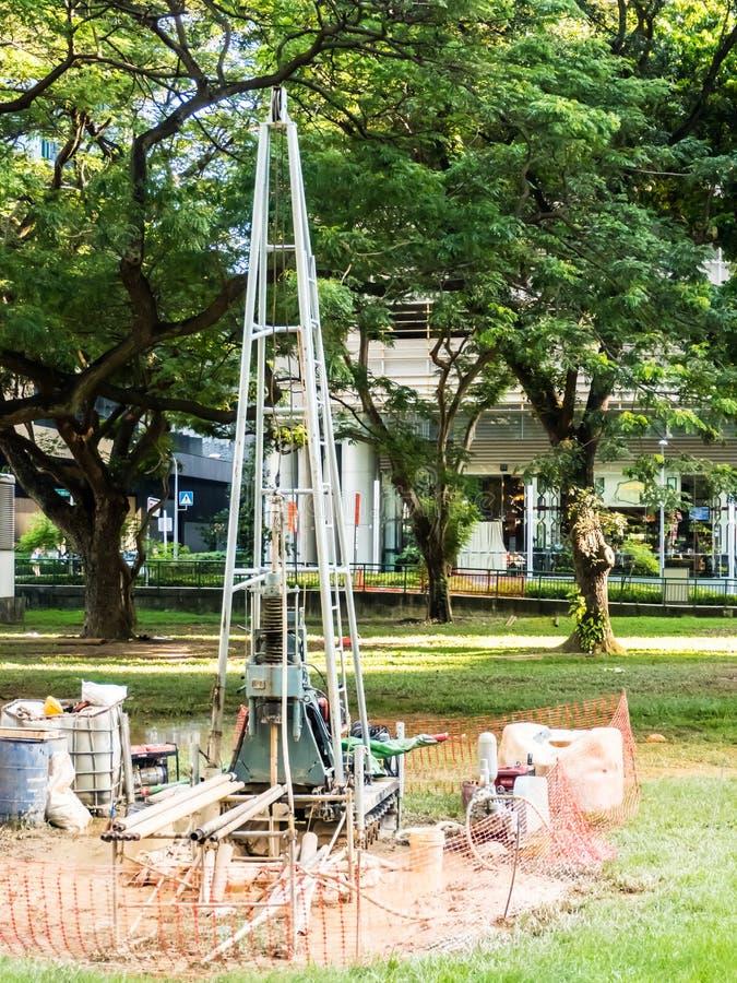 Installation de foret à arroser pour l'irrigation de culture photo stock