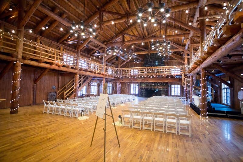 Installation de lieu de rendez-vous de cérémonie de mariage photos stock