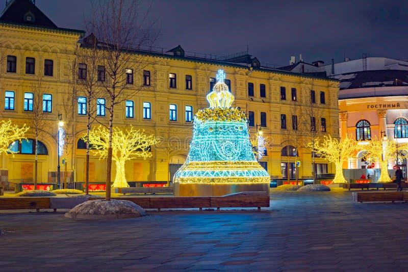 Installation de Noël, parc de Zaryadye, Russie image libre de droits