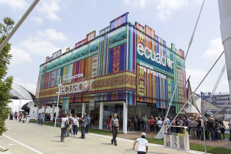 Installation de pavillon de l'Equateur à l'expo, exposition universelle o image stock