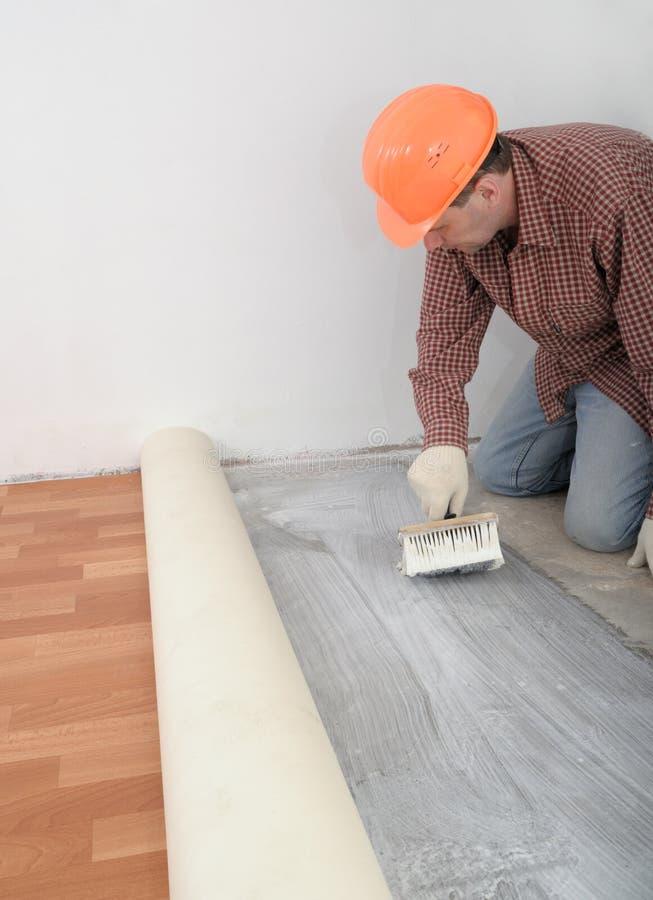Installation de plancher photo stock