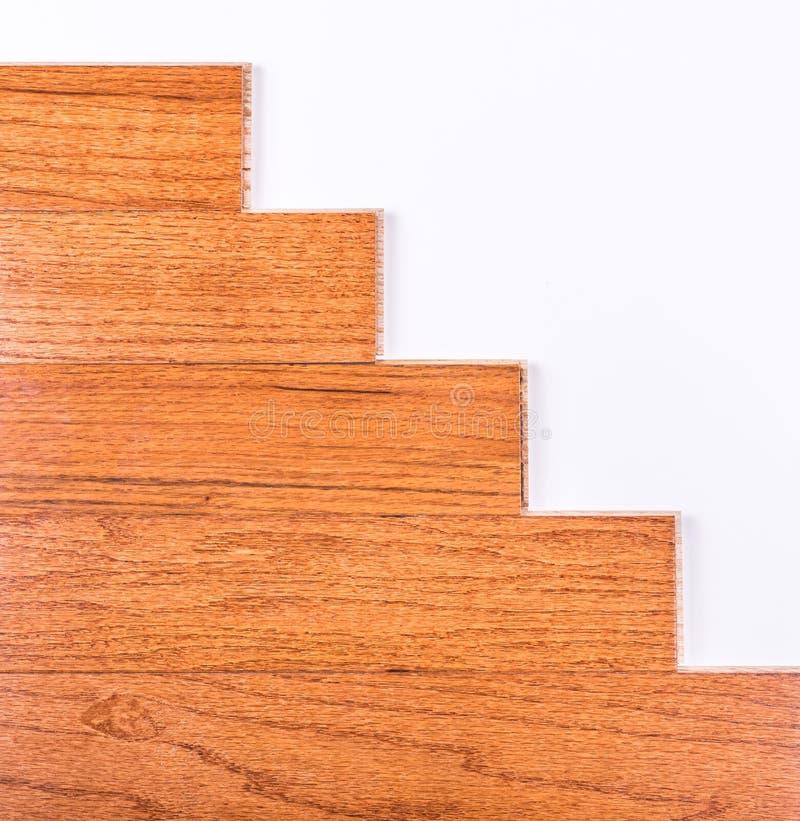 Installation de plancher en bois dur images libres de droits
