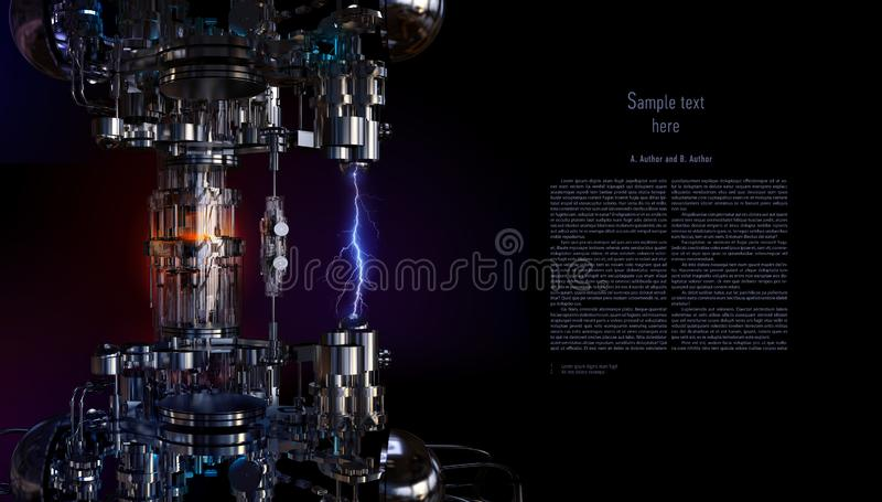 Installation de pointe de concept de technologie illustration 3D illustration de vecteur