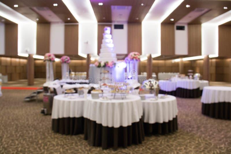 Installation de restauration, à la réception de mariage photo stock