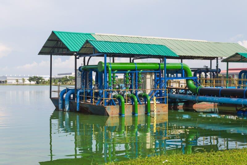 Installation de traitement d'eaux usées photos libres de droits