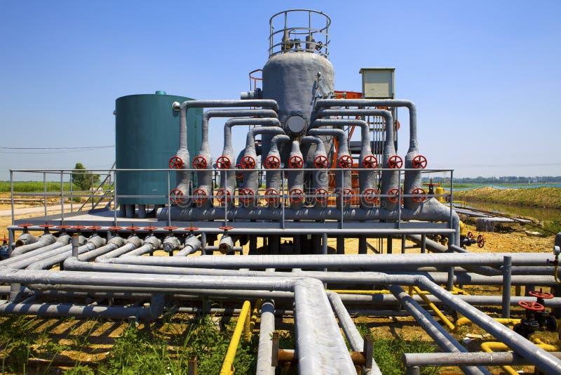 Installation de transformation de pétrole et de gaz photos stock
