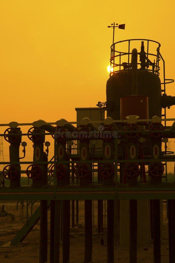 Installation de transformation de pétrole et de gaz photographie stock