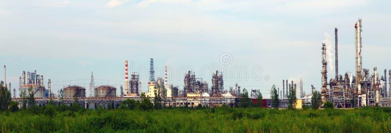 Installation de transformation de pétrole et de gaz photos libres de droits