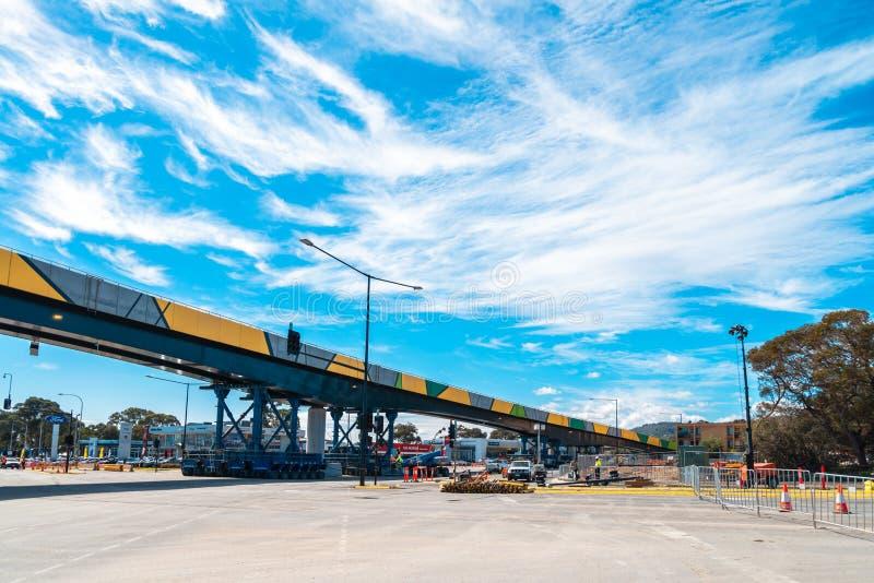 Installation för bro för Darlington ` s på den Ayliffes vägen royaltyfria foton