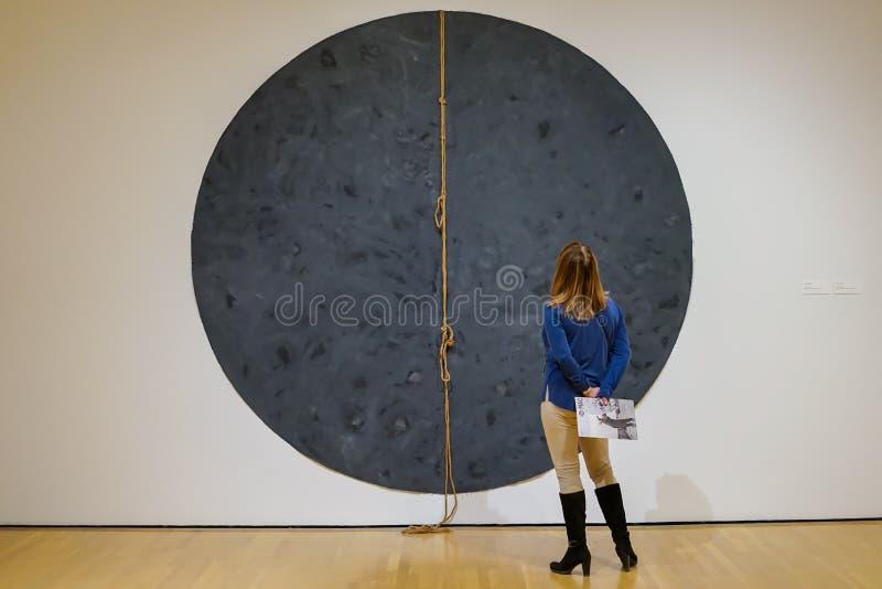 Installation Françoise Sullivan bei MAC Museum stockfotografie