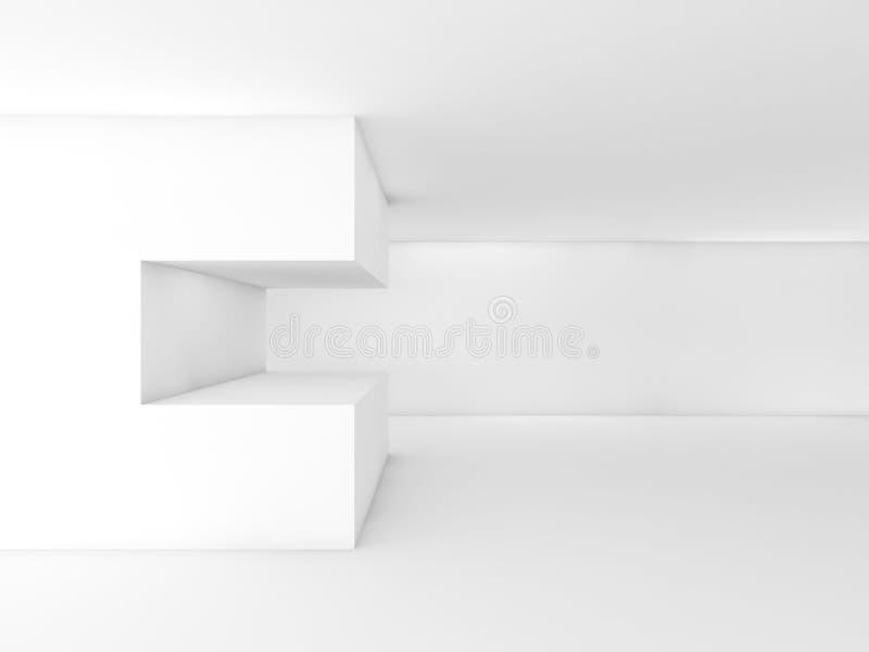 Installation géométrique l'illustration 3d rendent illustration de vecteur